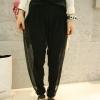 กางเกงเลกกิ้งสุดเก๋ 2 สี เทา/ดำ