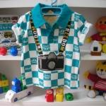 เสื้อโปโล สะพายกล้อง แนวๆค่ะ size 90