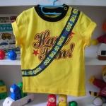 เสื้อยืดสะพายกระเป๋า สีเหลือง Size80
