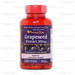 Puritan Grape Seed Extract 200 mg 120 เม็ด (USA) บำรุงผิวพรรณ เพื่อผิวขาว กระจ่างใส และช่วยลดและป้องกันริ้วรอย ด้วยสาร OPC ในเมล็ดองุ่น