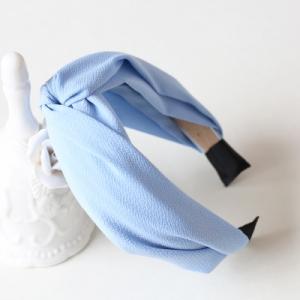 ที่คาดผมผ้าไขว้สีฟ้า