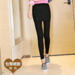สีดำ : Skirts Legging เลกกิ้งกระโปรงกันหนาว ด้านในเป็นผ้าสำลีขนสั้น ยืดได้เยอะ