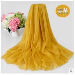 ผ้าพันคอ ผ้าชีฟอง 1.5*2 เมตร