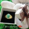 ODR08 งานออเดอร์ลูกค้าสั่งทำ แหวนผู้ชายแบบเรียบเงินแท้ชุบทอเค หยกพม่าแท้สั่งทำได้จ้า