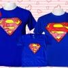 เสื้อครอบครัว เซท super man พ่อ แม่ ลูก
