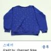 เสื้อกันหนาวไหมพรมสีน้ำเงิน ผ้าหนานุ่มกันหนาวดีมากค่ะ