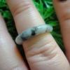 RJA103 - J  แหวนหยกพม่าแท้สีควัญบุหรี มีลายไม่ซ้ำ เลือกได้ในหมวดหมู่หลัก  18.2 mm (55.5)