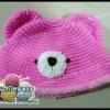 หมวกถักไหมพรม หมวกน้องหมี