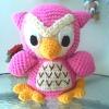 Owl ตุ๊กตาไหมพรมนกฮูก