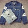 เสื้อแจ็คเก็ตยีนส์ Exo