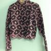 เสื้อเชิ๊ตปักลายดอกไม้สีชมพู