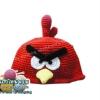 หมวกถักไหมพรม Angry Bird สีแดง