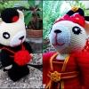 แพทเทิร์นหมีคู่รัก : Wedding dolls [Chinese]