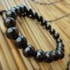 HM02BC ไซท์7มิลข้อมือประคำแร่เฮมาไทต์หรือเหล็กไหล(Hematite bracelet7mm.)