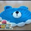 หมวกถักไหมพรม น้องหมีหูตั้ง
