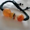 BCo04Dหยกแท้สีส้มอมแดงสีธรรมชาติ ปรับไซท์ฟรีไซท์ 16-30cm.