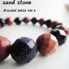 Golden and Silver sand stone Bracelet (cut/M) ทรายเงินและทรายทองข้อมือเจียเหลี่ยม