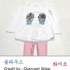 ++เสื้อยืด++เสื้อยืดแขนยาวสีขาวสกรีนลาย น่ารักมากๆค่ะ