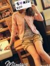 พร้อมส่ง - เสื้อคลุม สีชมพู สไตล์เกาหลี เก๋ๆ