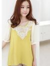 เสื้อผ้าแฟชั่นผู้หญิงมีสีเหลือง ชมพู