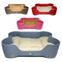 ที่นอนหนังพร้อมเบาะ 4 สีสดใส GREY,BROWN,PINK,RED--0