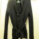 [JACKET] เสื้อหนาวสีดำ ยี่ห้อ East Village Size 42/44 ใส่คลุมผูกเอว สวยค่ะ