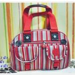 กระเป๋าถือ กระเป๋าสะพาย Kipling ลายทางสีแดง K113