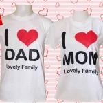 เสื้อคู่ cotton 100% DAD MOM