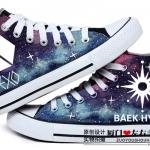 รองเท้าผ้าใบ EXO Baekhyun เรืองแสง Logo EXO [Size35-43]