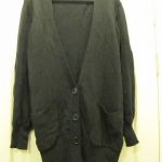 [JACKET] เสื้อคลุมยาว สีดำ ยี่ห้อ H&M Size L (รอบอก 42 นิ้ว) ใส่คลุมทำงานได้ค่ะ
