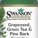 Swanson Grape Seed, Green Tea & Pine Bark Complex 125 mg 60 Caps รวมสุดยอดสารต้านอนุมูลอิสระในหนึ่งเดียว ช่วยบำรุงผิวพรรณ กระจ่างใส ไร้ฝ้า จุดด่างดำ