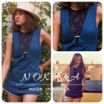 Jansuda Brand.. Lace Denim Playsuit