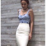 กระโปรงสไตล์แบรนด์ แบบคุณอั้ม Kloset Skirt SS14..Spring Summer 2014 สำเนา
