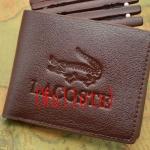 กระเป๋าสตางค์ผู้ชาย ใบสั้น หนังแท้ LC สีน้ำตาล ด้านในมีช่องใส่เหรียญ no 384865_2