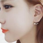 ตุ้มหู,ต่างหูสไตล์เกาหลีรูปดาวแต่งคริสตัล3สี