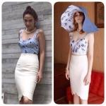 เซ็ท เสื้อ - กระโปรงแบบคุณอั้ม สไตล์แบรนด์ Kloset Skirt SS14..Spring Summer 2014