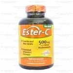 American Health Ester-C with Citrus Bioflavanoid 1000 mg 180 Vegetarian Tablets Ester-C (เอสเตอร์-ซี) เป็นวิตามินซีที่ไม่มีความเป็นกรด