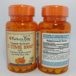 Puritan's PrideVitamin C-1000 mg with Rose Hips Timed Release 1000 mg / 60 Caplets