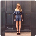 Jumpsuit สไตล์แบรนด์ Land me. Sparkle love Denim Playsuit