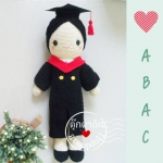"""ตุ๊กตาถัก รับปริญญา ABAC 20"""""""