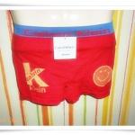 กางเกงในชาย เนื้อนุ่ม สีแดง M006