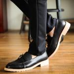 รองเท้าผู้ชาย | รองเท้าแฟชั่นชาย รองเท้าหนังทรงเตี้ย แฟชั่นเกาหลี