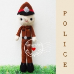 """ตุ๊กตาถัก ตำรวจ 9"""""""