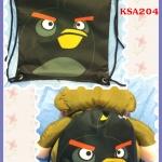 เป้หูรูด Angry Birds สีดำ