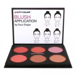 City Color Glow Pro Blush Palette Shimmer Collection