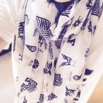 ผ้าพันคอ exo ขาว