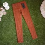 กางเกงขาเดฟสีน้ำตาลเอวยางยืด