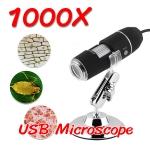 (พร้อมส่ง) กล้องจุลทรรศน์ USB Microscope 1000X กำลังขยาย 1000 เท่า (แถมฟรีแว่นขยาย 40X)