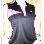 เสื้อกีฬา ผู้หญิง แขนกุดสีดำ Ad011