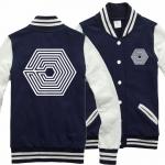 เสื้อทรงเบสบอล EXO Overdose Nevy blue